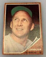 1962 Topps # 195 Smokey Joe Cunningham Baseball Card Chicago White Sox