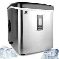 Stainless Steel Ice Maker Portable Countertop Freestanding Icemaker 33lb Per Day