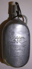 WW2 POW Trench Art Engraved Aluminum Bottle - Stalag VIII - Sagan