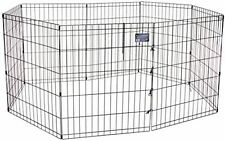 "30"" Dog Exercise Play Pen Folding Indoor Outdoor Cage Fence Pet Puppy Kennel"