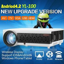 Home Cinema Theater LED WIFI Projector HD 3D 1080P 5000 lumens yl-100 wifi