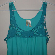Women's MEDIUM Sleepwear TURQUOISE TEQUILLA SUNRISE GOWN NWT Ambrielle Tie BACK