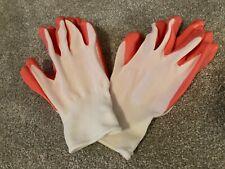 2 Pair of Women's Orange/White Nitrile Dipped Gardening Gloves (Size L)