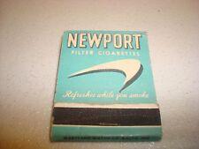 Rare Vintage Matches Newport Filter Cigarettes USA Original!