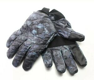 Isotoner NEW Blue Black Mens USA Small S Camo Quilted Winter Gloves $55 #437