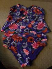Old Navy Floral 2 Piece Swim Suit Plus Size 4X NWT