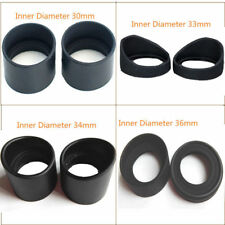 2PCS Dia.27-40mm Rubber Eyepiece Eye Cups for Stereo Microscope or Telescope