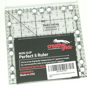 Creative Grids NON-SLIP Perfect 5 Ruler CG (CGRPERF5)