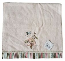 New Avanti Linens Butterfly Garden Hand Towel Pale Pink Embroidery