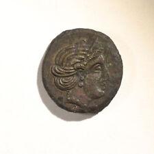 TAURIC CHERSONESOS. Dihalk 385-380 BC. Æ - Artemis Parthenos/Lion head XEP