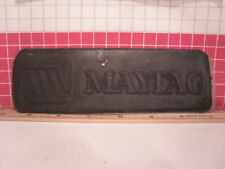 """Letterpress Rubber Advertising Print Block/Plate - """"Maytag"""" Appliances Unmounted"""