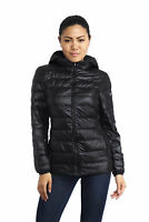 Alpine Swiss Womens Hooded Down Jacket Puffer Bubble Coat Packable Light Parka