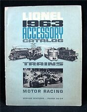 1963 Lionel Trains & HO Motor Racing Cars Priced Accesory Catalog