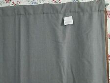 "New Threshold Charcoal Linen Aruba Blackout Curtain Panel H 63"" x W 50"""