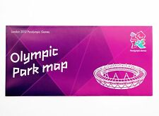 Londres 2012 paralympic Games Official Olympic Park Map Olympics souvenir
