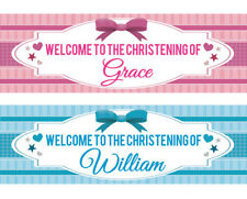 Blue Happy Christening 12ft Party Banner Christenings Parties Banners Decoration