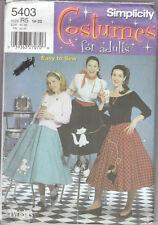 2003 Uncut Circular POODLE SKIRTS Costume Pattern 14-22~Simplicity 5403