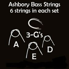 Full Set- Ashbory Bass Silicone Rubber Strings w/ 2 extra G strings -E A D G G G