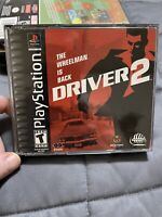 Driver 2 *Black Label* PS1 Playstation 1 - Complete - Works Great