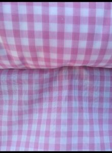 """BABY PINK GINGHAM CHECK 1/4"""" cotton mix fabric, sold/PER METRE/"""
