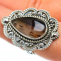Large Montana Agate 925 Sterling Silver Ring Size 8.25 Ana Co Jewelry R44686F