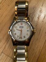 Wenger Swiss Quartz Movement Stainless Steel Silver Dial Men's Watch 79051 NWOT