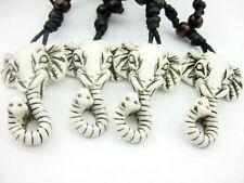 Wholesale 12 pcs White Cool Elephant head biker pendant necklace