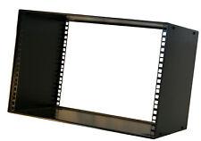 "7U 200mm 19"" STACKABLE RACK CABINET CASE PRO AUDIO STUDIO  BOX front rear fix"