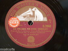 "78rpm 12"" BERKELEY six preludes for piano COLIN HORSLEY C.3940"