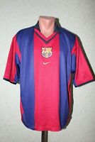 Barcelona Football Shirt Jersey Camiseta Soccer 2000 2001 Home Nike Size L Rare