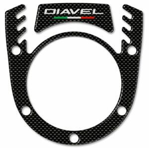 Sticker 3D Switch Cover Key For Motorcycle Ducati Diavel Carbon