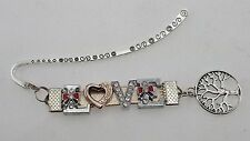 Personalized-Any name L.Gold Custom Rhinestone Letter Bookmark Tree of Knowledge