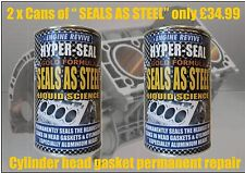 SPECIAL OFFER ! 2 x Head Gasket Fix Permanent Cooling System Repair Leak Sealer