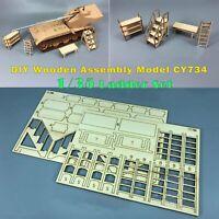 1/35 DIY Holzmodell Installieren Leiter Kit Tank Fabrik Garage Werkstatt Szenen