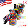T1 3X 40pcs 20cm Male To Male Female Dupont Wire Jumper Cable Arduino Breadboard