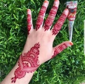 🍒 Natural  CHERRY RED Henna Cone Paste NEW & LARGER with  FREE TRACKING