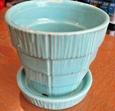 "Vintage McCoy Planter Turquoise - 2.75"""