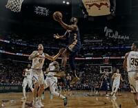 "ZION WILLIAMSON Autographed Pelicans ""Lay Up"" 16"" x 20"" Photograph FANATICS"