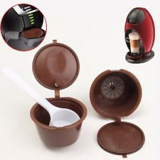 10PCS Brown Reusable Refillable Coffee Capsule Pods Cup For Dolce Gusto Machine