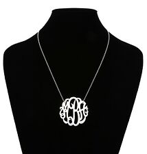 Argento Vivo MRA Monogram Necklace Silver Women 5902