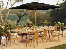 9 PC TEAKWOOD DINING SET GARDEN OUTDOOR PATIO FURNITURE GIVA ARMLESS DINING DECK