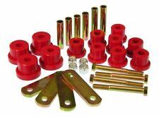 Prothane Spring Eye & HD Shackle Kit (Multi Leaf) Red for Firebird Camaro Nova