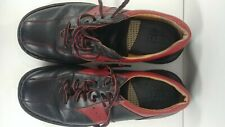 (Pre-Owned) Born Black And Red Leather Bowling Style Shoe Size: 12