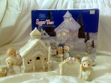 "Vintage Precious Moments ""Sugar Town"" Lighted Schoolhouse 6-Piece Christmas Set"