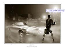 Volvo P1800 Classic Car Fantasy Art Ltd Ed Signed Print Picture The Saint