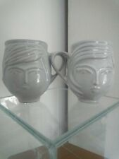 Pair Johnathan Adler Male Female Mugs Grey