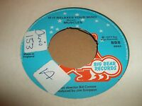 """MUSCLES """" IF IT RELAXES YOUR MIND """" 7"""" FUNK SINGLE 1977 EXCELLENT"""