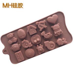 Cartoon Bear House Love Heart Animal Silicone Mould Chocolate Fondant Jelly Mold