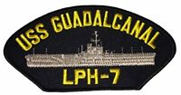 USS GUADALCANAL LPH-7 PATCH NAVY SHIP IWO JIMA CLASS AMPHIBIOUS ASSAULT GOLDEN