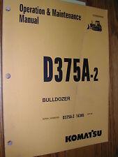 Komatsu D375A-2 OPERATION MAINTENANCE MANUAL BULLDOZER DOZER OPERATOR GUIDE BOOK